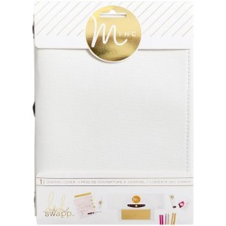 "White Canvas Minc Journal Cover 6""x9"" Heidi Swapp"