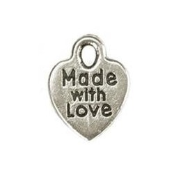 Charms Silver Made With Love