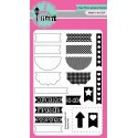 Planner Tabs Clear Stamps Pink & Main
