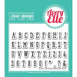 "Elle's Alpha's Clear Stamps 2"" x 3"" Avery Elle"