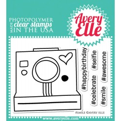 "Smile Clear Stamps 4"" x 3"" Avery Elle"