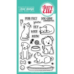 "Furry Friends Clear Stamps 4"" x 6"" Avery Elle"