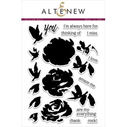 "Timbri Painted Rose Clear Stamps 6""x8"" Altenew"