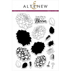 "Timbri Dahlia Blossoms Clear Stamps 6""x8"" Altenew"