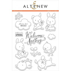 "Timbri Bunny Love Clear Stamps 6""x8"" Altenew"