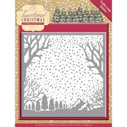 "Traditional Christmas Embossing Folder 6""x6"" Yvonne Creations"