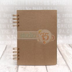 Crafty Journal Book 15 x 21 cm with Copper Spiral Studio75