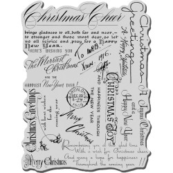 Timbro Christmas Background Cling Rubber Stamp Stampendous