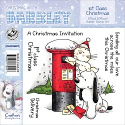 Timbri 1st Class Christmas Christmas with Barkley Cling Rubber Stamp Set Crafter's Companion