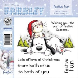Timbri Festive Fun Christmas with Barkley Cling Rubber Stamp Set Crafter's Companion