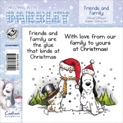Timbri Friends & Family Christmas with Barkley Cling Rubber Stamp Set Crafter's Companion