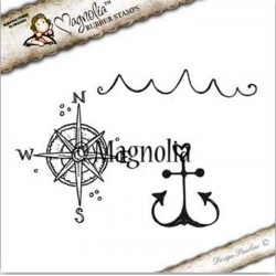 Timbro Magnolia Anchor Kit Rubber Stamp - SS-16