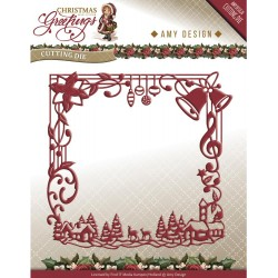 Christmas Greetings Frame Christmas Greetings Die Amy Design