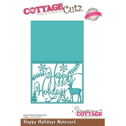 Happy Holiday Notecard Elites Die CottageCutz