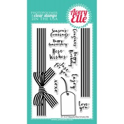 "Timbri Beautiful Bow Clear Stamp Set 4""x6"" Avery Elle"