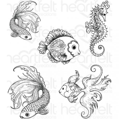 Under the Sea Cling Rubber Stamps Heartfelt Creations