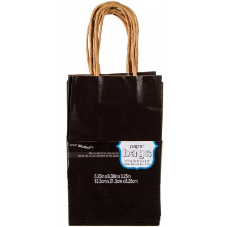 "Chalkboard Paper Bags 5,25"" x 8,38"" x 3,25"" Core'dinations"