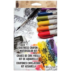 Distress Watercolor Crayons Kit Tim Holtz