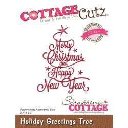 Holiday Greetings Tree CottageCutz Die
