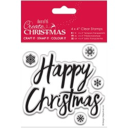 Happy Christmas Clear Stamps Papermania Docrafts