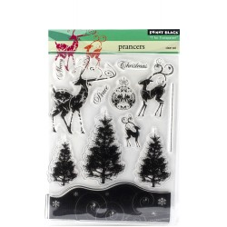 Prancers Stamp Clear Set Penny Black
