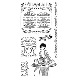 Timbri Cafè Parisian 2 Cling Stamps by Graphic45 Hampton Art