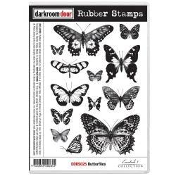 Butterflies Rubber Stamps Darkroom Door
