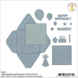 Happy Birthday Gift Envelope Die Set Cheery Lynn Designs
