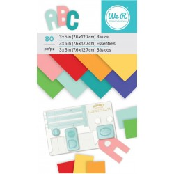 "Multicolor Paper Pad 3""x5"" W R Memory Keepers"