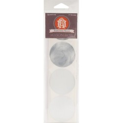 "Silver Foil 2"" Round Embosser Seal Stickers 32 Pkg Mason Row"