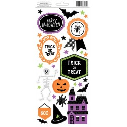 "Halloween Stickers 6""x12"" Accents & Phrases American Crafts"