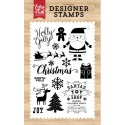 """Holly Jolly Clear Stamps 4"""" x 6"""" Echo Park"""