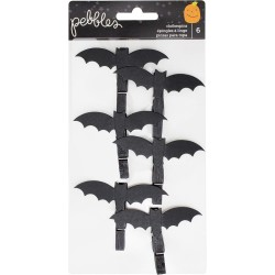 Bats Trick Or Treat Clothepins Pebbeles American Crafts