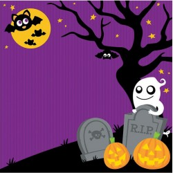 "Kids Halloween Easy Peasy Page Layout With 3D Design 12""x12"""