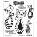 Puddy Cat Dylusions Cling stamp by Dyan Reaveley