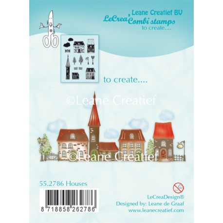 Houses Clear Stamp Combi Stamp Leane Creatief