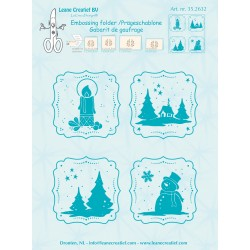 Frames Winter Embossing Folder Leane Creatief