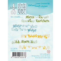 Christmas & New Year Greetings Clear Stamp Combi Stamp Leane Creatief