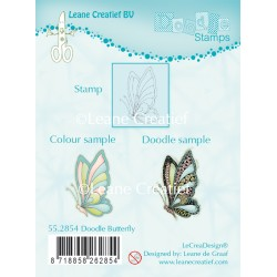 Doodle Butterfly Clear Stamp Combi Stamp Leane Creatief