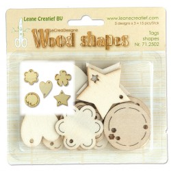 Tags Shapes Wood Shapes LeCreaDesign Leane Creatief