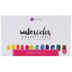 Tropicals Watercolor Confections Pans 12 Pk Prima Marketing