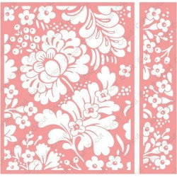 Blossom Dance Embossing Folder Cricut Cuttlebug