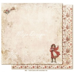 "Carta I wish Santa will remember Me 12""x12"" I wish Collection Maja Design"
