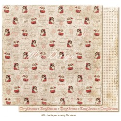 "Carta I wish you a Merry Christmas 12""x12"" I wish Collection Maja Design"