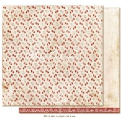 """Carta I wish to play in the snow 12""""x12"""" I wish Collection Maja Design"""
