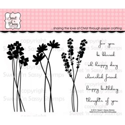 Long Stem Silhouettes Clear Stamps Sweet'n Sassy Stamps