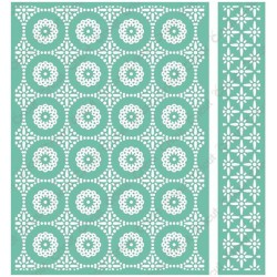 "Circular Grid Embossing Folder 5""x7"" Cricut Cuttlebug"