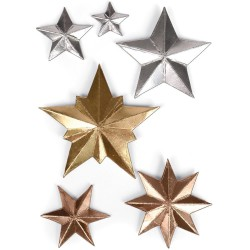 Dimensional Stars Sizzix Thinlits by Tim Holtz