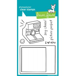 """Say Cheese Clear Stamp 4""""x6"""" Lawn Fawn"""