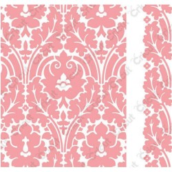 "Brocade Embossing Folder 4,25""x5,5"" Cricut Cuttlebug"